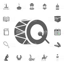 Drum Icon Ramadan Kareem Eid Mubarak Vector Illustration Icons Set