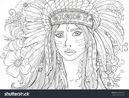 Adult Coloring Pages For Girls With Winter Girl And Gifts Winter