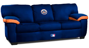 new york mets classic microfiber sofa couch from imperial international imp 65