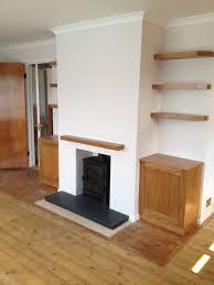 alcove units floating shelves