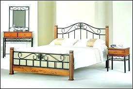 Wrought Iron Bed Frame Queen Size Black Frames And Wood – Smartology
