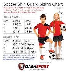 Dashsport Soccer Shin Guards Dual Strap Design Youth Sizes Best Kids Soccer Equipment With Adjustable Straps Great For Boys And Girls