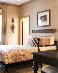 traditional wall decor ideas bedroom traditional with crown molding decorative masks wood bed