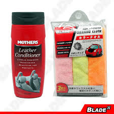 mothers 06312 leather conditioner 355ml blade microfiber cloth set of 3 by blade auto center