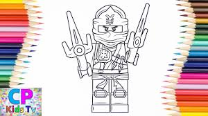 Lego Ninjago Coloring Pages 10 How To Color Jay Lego Ninjago