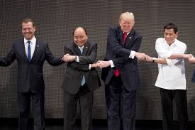Image result for Images of Trump and Duterte in Philippines