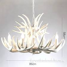white antler chandelier elk 9 6 ceiling lights interior decor cast pure candelabra home lighting fixtures