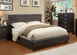 grey fabric upholstered bed frame  caravana furniture