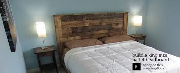 Homemade Headboards For King Beds Build A King Sized Pallet Headboard  Diywithrick Bedroom