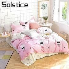 bunny bedding solstice home textile pink bunny bedding sets girl princess kid teens duvet quilt cover bunny bedding dreams ds
