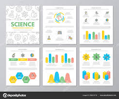 Advertising Charts And Graphs Set Of Colored Science And Research Elements For