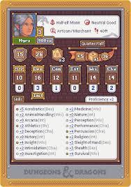 Pixel Character Template Art Oc Half Elf Monk Pixel Art Character Card Template
