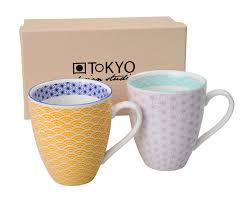 mug set star wave purple  light blue pcs xcm  the