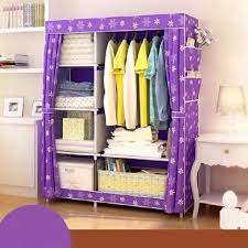 quality fashion curtains style multi function wardrobe storage cabinet
