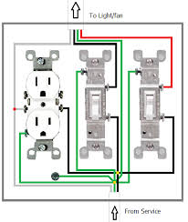 wiring diagram for a switched receptacle images receptacle wiring wiring what is the proper way to wire a light switchfan switch and