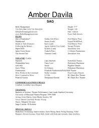 Examples Of Actors Resumes Sample Actors Resume Template Actingresume Acting Resources