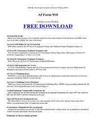 af form 910 fillable online download book af form 910 pdf download book af form