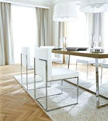 white leather dining room chairs awesome beautiful chrome throughout 4