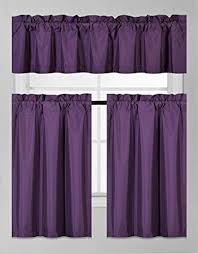 Purple Kitchen Curtains