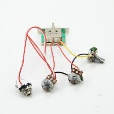 guitar wiring harness pickup 1v2t 5 way switch 500k pots jack for 3 Way Strat Wiring Harness does not apply Fender Strat Wiring Harness