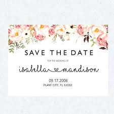 save the date template free download save the date templates printable save the date template card floral