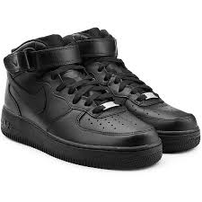 nike shoes black high tops. nike air force 1 mid 07 leather sneakers (3 875 uah) ❤ liked on. black high top shoes tops
