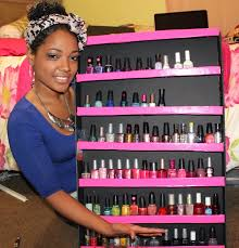 easy diy nail polish rack