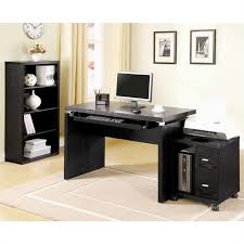 coaster l computer desk with keyboard tray in black