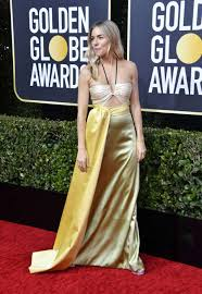 Sienna miller wears quirky citrus outfit. Sienna Miller 2020 Golden Globe Awards 05 Gotceleb