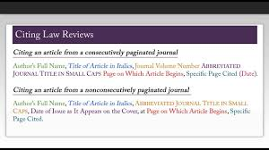 How To Cite Using Harvard Bluebook Law Reviews