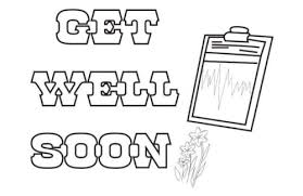 Teach kids how to describe things through colours. 20 Free Get Well Soon Coloring Pages Printable