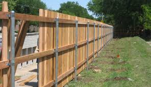 how to add privacy metal fencing rail cedar fence on steel posts post l15 post