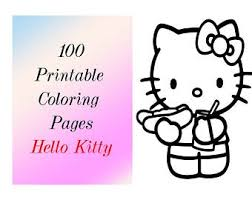 Hello kitty and the cupcakes. Hello Kitty Coloring Etsy