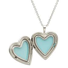 silver shamrock heart shape irish locket pendant