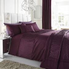 purple plum colour stylish textured faux silk duvet cover luxury beautiful bedding