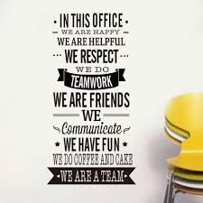 In This Office Vinyl Quotes Wall Decal Home Decor Inspirational Art Mural Teamwork Wall Stickers