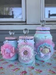 A personal favorite from my Etsy shop  https://www.etsy.com/listing/503743498/set-of-3-shabby-chic-mason-jar… |  Painted mason jars, Shabby chic, Shabby chic painting