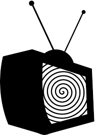 watching tv clipart black and white. pin tv clipart silhouette #1 watching black and white