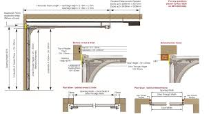 garage door framing detail ez 70 1 creative nice 9 technical specifications systems