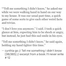 Tell Me Something I Didn T Know Breakup Quotes Fiction And Shorts