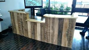 office desk wood. Wood Plank Desk Reception Custom Made Rustic Reclaimed And Live Edge Small Office O