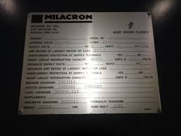 harbor isle plastics private treaty 1 cincinnati milacron 1 cincinnati milacron nt550 72 powerline 550 550 ton x 72 oz
