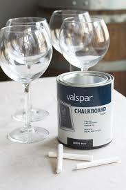 how to make chalkboard wine glasses
