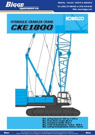 Hydraulic Crawler Crane Bigge Crane Pages 1 36 Text