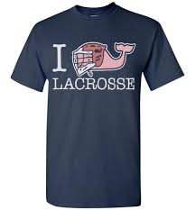 Funkyteestore Vineyard Vines I Whale Lacrosse Lax Graphic T Shirt 883
