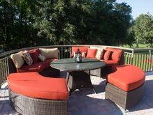 source outdoor circa round wicker sectional dining set buy source outdoor circa