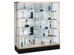 Trophy Display Stand Delectable Colossus Floor Display Case W Plaque Fabric 32Wx32H Trophy