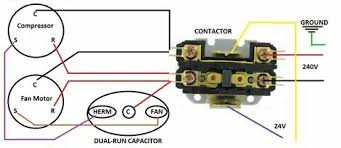 wiring diagram for ac start capacitor the wiring diagram air conditioner contactor wiring diagram nilza wiring diagram