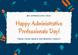 Admin Professionals Day Cards Blue Pattern Administrative Professionals Day Card Templates By Canva