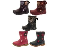 girls toddlers faux leather mid calf ankle boots